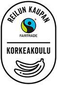 Reilun kaupan korkeakoulu -hankkeen logo